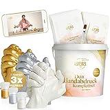 larella® 3D Handabdruck Set für Paare mit 3 Farben [ MADE in GERMANY ] Gipsabdruckset Hände mit Alginat, Jahrestag Geschenk für Ihn und Sie, Partner Geschenke, Pärchen Geschenke