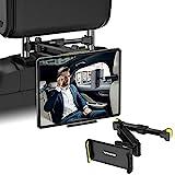 YIFACOOM Tablet Halterung Auto Kopfstütze, Universelle Ausziehbare Auto KFZ Tablet Halterung, 360° Drehung Tablet Kopfstützenhalterung für 4~12,9 Zoll Handy, Tablet, Switch und Andere Geräte