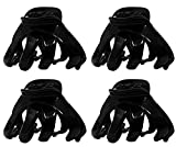 4er-Set Haarkralle Oktopus Clip Schmetterling Bulldoggen Design Plastik -, Schwarz