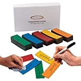 ECENCE 75 Magnetstreifen beschreibbar - 60x20mm bunt - zuschneidbare Haftstreifen - abwischbare Magnetschilder - Magnet-Etiketten für Whiteboards, Kühlschränke, Magnettafeln