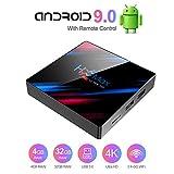 STRENTER TV Box Android 9.0 TV Box Smart Media Box 4GB RAM 32GB ROM RK3318 Quad Core Bluetooth 4.2...