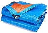 GWFVA Plane, großer Campinggarten TARPS 6x8 Sonnenschutz im Freien wasserdichte Poly-Plane Anti-Aging Leicht Faltbarer LKW Pool Pool Campingabdeckung Multifunktionale Bodenplanen