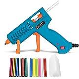Heißklebepistole 60W Tilswall, Klebepistole mit 60 Stück Heißklebestifte sticks Glitzer/Bunt/Transparent, für Schule DIY Kunst, Handwerk und schnelle Reparaturen in Haus