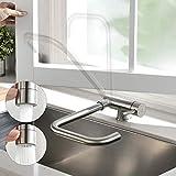 Wasserhahn Küche, CECIPA Spültischarmaturen Küche mit 2 Strahlarten Vorfenster Küchenarmatur Klappbar Mischbatterie Küche 360° Drehbare Unterfenster Armatur Küche
