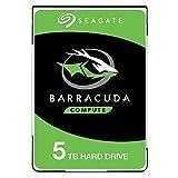 Seagate BarraCuda 5 TB HDD Festplatte intern (6,35 cm (2,5 Zoll), 15 mm dünn, 5400 U/Min, 128 MB...