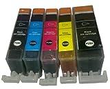 20 kompatible Druckerpatronen ohne Chip ersetzen Canon PGI 520 BK, CLI 521 BK, CLI 521 C, CLI 521 M, CLI 521 Y, geeignet für Canon PIXMA IP3600/IP3680 /IP4600 /IP4680/IP4700/ PIXMA MP540/MP 550/ MP 560/ MP620 / MP630/ MP640/ MP980 MX860