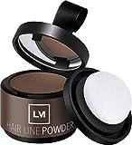 LEON MIGUEL Hair Line Powder - Ansatzpuder/Concealer   Haarverdichtung und Make-up zum Ansatz kaschieren   Wasserfest (Hellbraun)