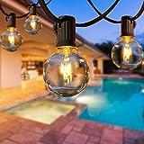 Lichterkette Außen AETKFO Lichterkette Glühbirnen G40 9.5m (25 Birnen,4 Ersatzbirnen) Lichterkette aussen für Garten, Bäume, Hochzeiten,Weihnachten, Partys (warmweiß)