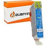 Bubprint Kompatibel Druckerpatrone als Ersatz für Canon BCI-6C BCI 6C für i550 i560X i850 i865 i9100 i9950 Pixma IP4000 IP5000 IP6000D MP760 S500 S530D S800 Cyan