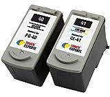 PG40 PG-40 CL41 CL-41 TONER EXPERTE® 2er Set Druckerpatronen kompatibel für Canon Pixma iP2600 MP140 MP460 iP1800 iP1900 iP2500 MP190 MP210 MP220 MP170 MP180 MP160 MP470 MX300 MX310 | hohe Kapazität