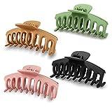 Ealicere 4 Stück haarklammer Kunststoff Haar Klaue Clips Damen Haare Klaue Klammern, für Damen Ohne Rutschen Hochwertig Haare Hochstecken