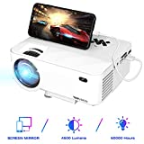 TOPVISION Mini Beamer mit Screen Mirroring,4500 Lumen Heimkino Beamer Full HD 1080P Video Beamer mit...