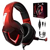 PS4 Kopfhörer mit Kabel und Mikrofon für PC Over Ear Kinder NEEDONE K19 Gaming Headset with mic...