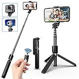 SYOSIN Selfie Stick Stativ, 4 in 1 Erweiterbar Selfie-Stange mit Bluetooth-Fernauslöse 360° Rotation Handyhalter für Action-Kamera GoPro und alle Smartphone (3,5-6.5 Zoll)