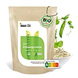 nur.fit BIO Erbsenprotein-Pulver 500g - natürliches veganes Proteinpulver mit 80% Proteingehalt – vegan Protein in zertifizierter BIO-Qualität mit essenziellen Aminosäuren