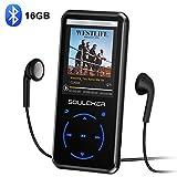 MP3 Player, 16GB Bluetooth MP3 Player mit Kopfhörer, MP3 Player Kinder mit Lautsprecher FM Radio...