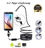 Endoskopkamera mit Licht, geeignet für Tap-C-, USB- und Android-Mobiltelefone...