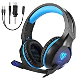 Pro Gaming Headset für PS4 Nintendo Switch PC Xbox One, Geräuschreduzierende Stereo Headset PS4...