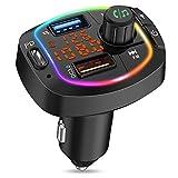 MustWin FM Transmitter Auto Bluetooth mit 3 USB Ladegerät PD/ QC3.0 Radio Adapter mit...