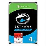 SeagateSkyHawk, interne Festplatte 4 TB HDD, Videoaufnahme bis zu 64 Kameras, 3.5 Zoll, 64 MB Cache, SATA 6 Gb/s, silber, FFP, inkl. 3 Jahre Rescue Service, Modellnr.: ST4000VXZ07