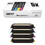 5X Eurotone Toner für Canon I-Sensys LBP 5300 5360 ersetzt 711 Set Black Cyan Magenta Yellow