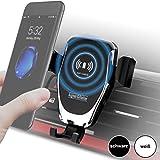 Auto-Handyhalterung mit kabellosem Ladegerät, Wireless Car Mount Charger, Schnellladegerät,...