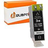 Bubprint Kompatibel Druckerpatrone als Ersatz für Canon BCI-3 BCI-3eBK für i550 i560X i850 i865 i9100 i9950 Pixma IP4000 IP5000 IP6000D S500 S530D S800 Schwarz
