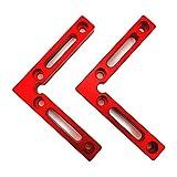 DirkFigge 90 Grad Eckenspanner, 1 Winkelspanner rechtwinklige Klemmen Holzbearbeitung Carpenter Tool Aluminiumlegierung L-Typ Eckklemme