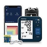 Blutdruckmessgerät Oberarm Bluetooth mit Smart App, Digitales automatisches Blutdruckmessgerät mit großer Manschette 9-16in, 2 * 120 Speicher, Arrhythmieprüfung