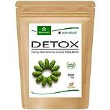 MoriVeda® Moringa Detox Tabletten 900 mg, 120 St. I Moringa, Leinsamen, Gerstengras & Spirulina als natürliche Entschlackungs- & Entgiftungs-Kur I Vegan & Glutenfrei I 120 Tabletten