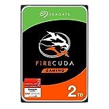SeagateFireCuda Gaming, hybride interne Festplatte 2 TB SSHD, 3.5 Zoll, SATA 6 Gb/s, silber, FFP, Modellnr.: ST2000DXZ02