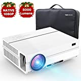 TOPVISION 5000 Lumen Projector, Native 1080p (1920 x 1080) LED Video Beamer tragbarer Full HD,...