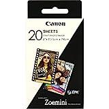 Canon 3214C002 Zink Papier ZP-2030, 20 Blatt für Zoemini