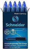 Schneider Rollerpatrone One Change (für Tintenroller One Change, 1x 5 Stück, dokumentenecht, nicht löschbar) blau