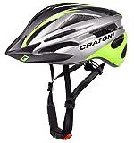 Cratoni Pacer+ Fahrradhelm (schwarz-anthrazit-Lime, (L-XL (58-62 cm))