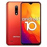 4G Handys Günstig, Ulefone Note 8P Smartphone Dual SIM 5,5-Zoll-Wassertropfenbildschirm 16 GB ROM 3-in1-Steckplatz 8MP + 2MP + 5MP Dreifachkameras Gesichtserkennung GPS Android 10 (Orange)