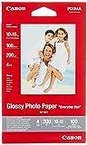 Canon Fotopapier GP-501 glänzend weiß - 10x15cm 100 Blatt für Tintenstrahldrucker - PIXMA Drucker (200 g/qm)