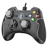 PS3 Gamepad, EasySMX PC Joystick für Spiele mit Kabel mit Dual-Vibration, Turbo und Fronttasten für Windows / PS3 / Android TV Box