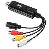 August VGB100 – USB 2.0 Audio Video Grabber Video Konverter – Scart, S-Video, Composite – VHS und Hi8 Kassetten Camcorder digitalisieren Videoadapter - für Windows 10 / 8 / 7 / Vista / XP