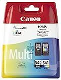 Original Canon 5225B005, 5227B005 / PG-540, CL-541, für Pixma MX 430 Series 2x Premium Drucker-Patrone, Schwarz, Cyan, Magenta, Gelb, 1x 180, 1x 180 Seiten
