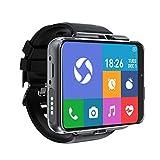 [4U.com] 4G/LTE Smart Watch Telefon Android 9.0 4-Core CPU 4 GB + 64 GB 7,1 cm HD Bildschirm 13 MP + 5 MP Dual Kamera 2300 mAh IP65 Wasserdicht WiFi Bluetooth GPS Sport Herzfrequenz
