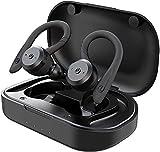 TIE TBE1018 Bluetooth In-Ear Ohrhörer - Wasserfeste Sportkopfhörer mit Powerbank Größe S,M,L, Schwarz