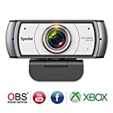 Spedal Full HD Webcam 1080p, Live Streaming Webcam, 120 Grad Ultra Weitwinkel, Computer Laptop...