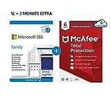 Microsoft 365 Family 12+3 Monate Abonnement   6 Nutzer   Mehrere PCs/Macs, Tablets/mobile Geräte  ...