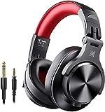 OneOdio Bluetooth Kopfhörer Over Ear Geschlossene HiFi Studiokopfhörer mit Share Port, kabelgebundene und kabellose professionelle DJ-Kopfhörer für E-Drum Piano Gitarre AMP Recording Monitoring
