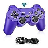 Powcan PS3 Controller, Wireless Controller für PS3,Bluetooth Gamepad Joystick,Dual-Vibration...