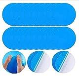 TinaDeer Selbstklebende PVC-Reparaturflicken Vinyl Pool Repair Patch für Aufblasbaren Bewässerungsprodukten Schlauchbooten, Schwimmringe, Kajaks, aufblasbare Sofas, Blau Runde Form, 7,5X7,5CM (5PCS)