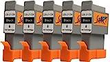 Start - 5 Ersatz Patronen kompatibel zu BCI-21 / BCI-24 Schwarz für Canon Pixm Drucker
