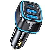 USB C Auto Ladegerät 80W, 3-Port Autoladegerät 20W Typ C PD PPS & 60W Dual USB QC 3.0 Zigarettenanzünder 12V Kfz Ladegerät, für iPhone 12/12 Pro/Max/ 12 Mini, Galaxy S10/ S9, Huawei und mehr