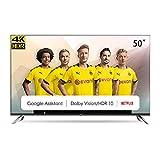 CHiQ Randloser Android UHD LED Fernseher 50 Zoll TV 4k Randlos Smart TV 126 cm Bilddiagonale...